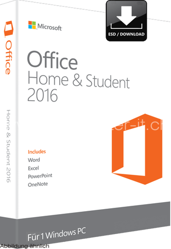Microsoft Office Home and Student 2016 | 32/64-bit | D/F/I/E | 1-user/1 PC | Win | ESD