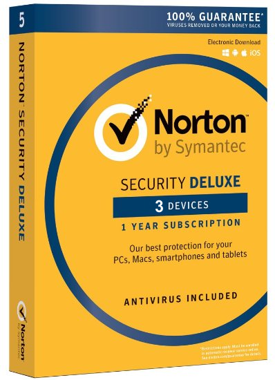 NORTON SECURITY DELUXE V 3.0 | 3 Geräte/1 Jahr | Win/Mac/iOs/Android | D/F/I/E | ESD