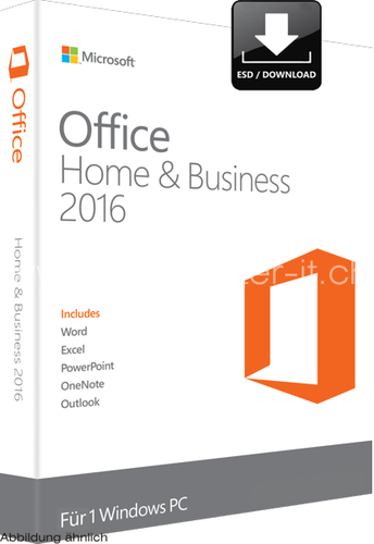Microsoft Office Home and Business 2016 | 32/64-bit | D/F/I/E | 1-user/1 PC | Win | ESD