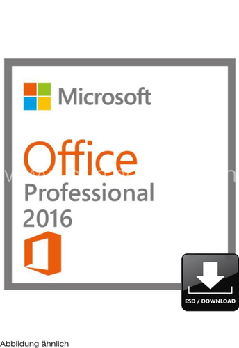 Microsoft Office Professional 2016 | 32/64-bit | D/F/I/E | 1-user/1 PC | Win | ESD