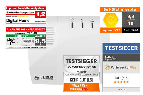 LUPUSEC XT2 Plus IP-Alarmanlagenzentrale 12045
