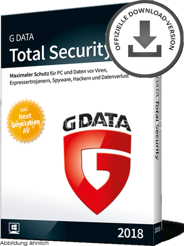 G DATA Total Security 2018 PC | D/F/I | ESD