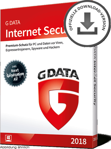 G DATA Internet Security 2018 PC | D/F/I | ESD