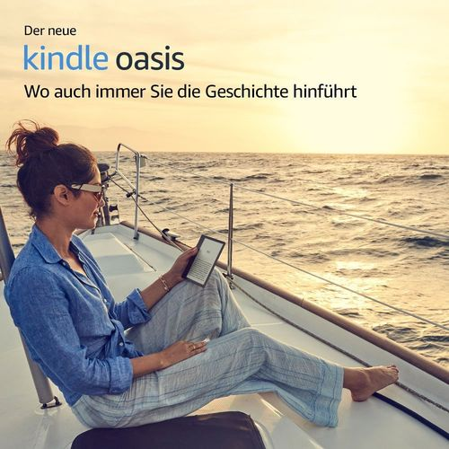 KINDLE OASIS | WLAN + 3G | 8 oder 32 GB | 300 ppi | 17 cm (7 Zoll) Touchscreen | IPX | (2017)