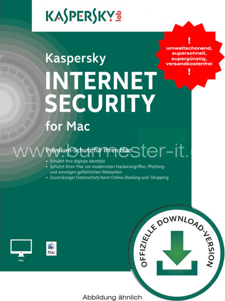 Kaspersky Internet Security for Mac 2019 | D/F/I/E | Mac | ESD