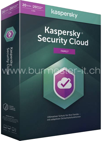 Kaspersky Security Cloud 2020 Family | D/F/I/E | PC/Mac/Android/iOS | 20 Geräte/1 Jahr | ESD