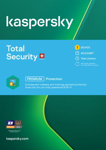 Kaspersky Total Security 2021 Swiss Edition | D/F/I/E | PC/Mac/Android | ESD
